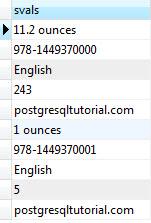 PostgreSQL hstore Tutorial