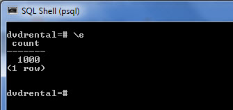 psql command example