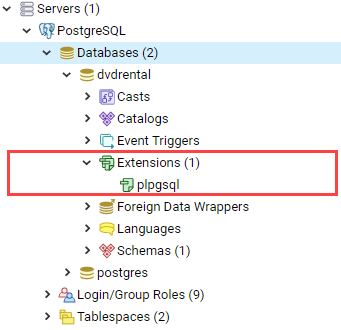 PostgreSQL Server and Database Objects